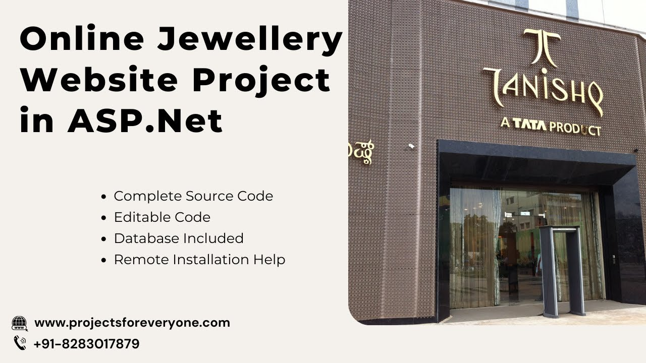 Online jewellery shopping website project in asp net with for Online websites for shopping