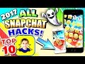 ALL TOP 10+ Snapchat HACKS 2017 for iPhone and Android - Save Snaps, Cool Effects, & MORE!