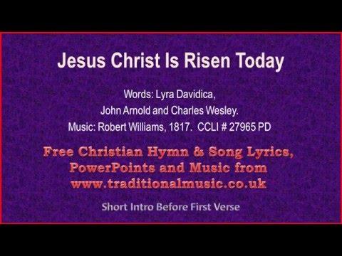 Jesus Christ Is Risen Today(MP076, Lyra Davidica) - Hymn Lyrics & Music