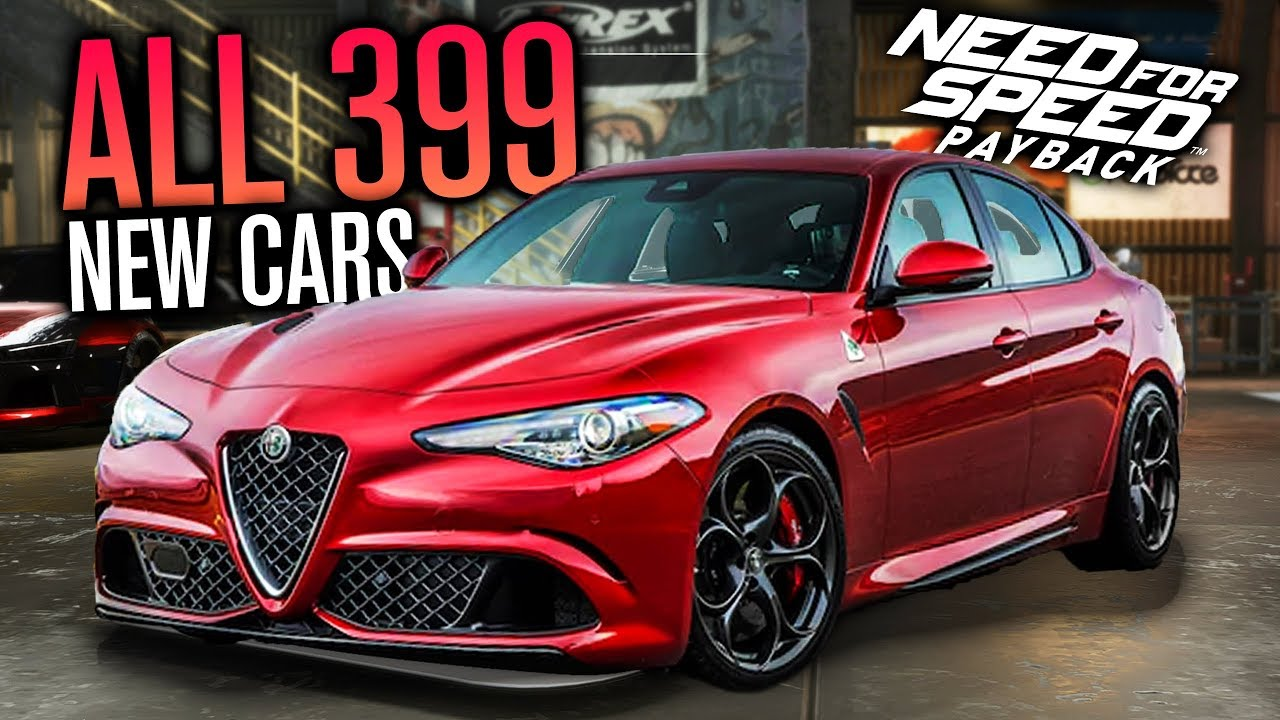 All Cars 399 Custom Races New Need For Sd Payback Update