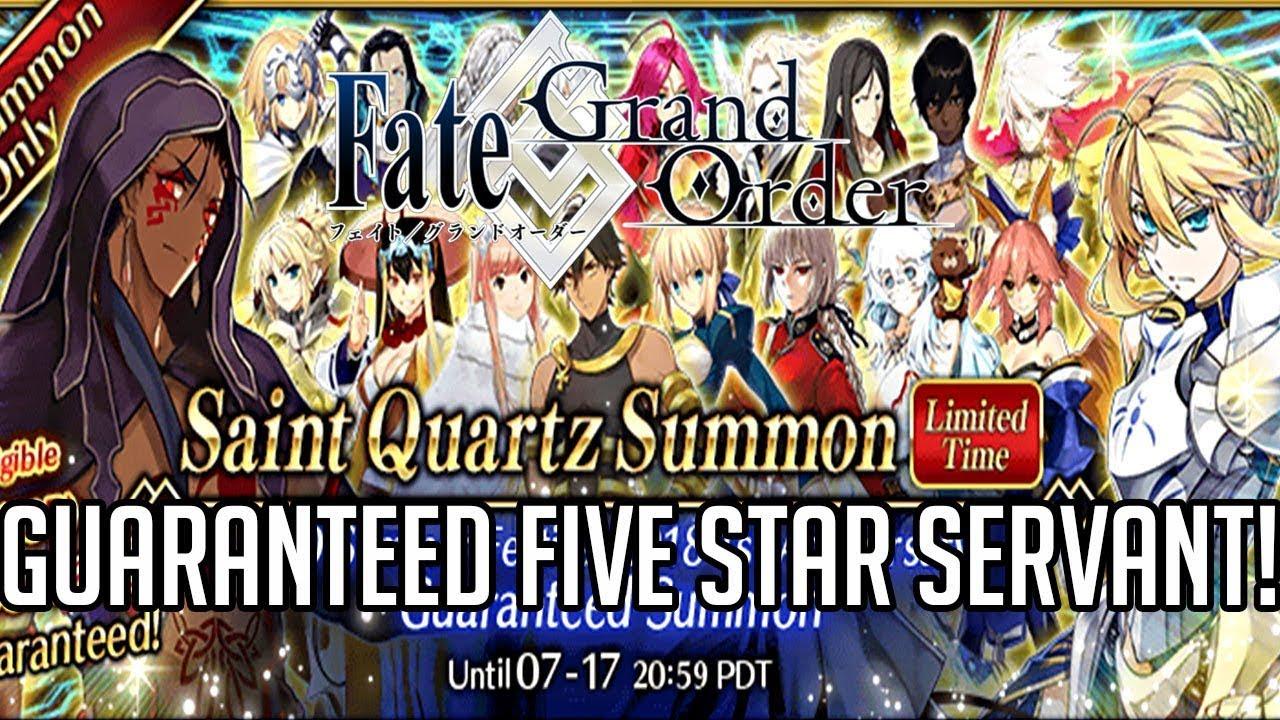 Fate Grand Order Guaranteed 5 Star Servant SUMMON