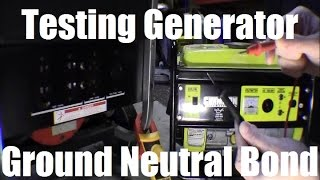 Ricks DIY Testing Portable Generator for Ground Neutral Bond, Bonding Check Test