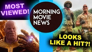 Infinity War MOST Watched Trailer in 24 hours! Jumanji Box Office Predictions