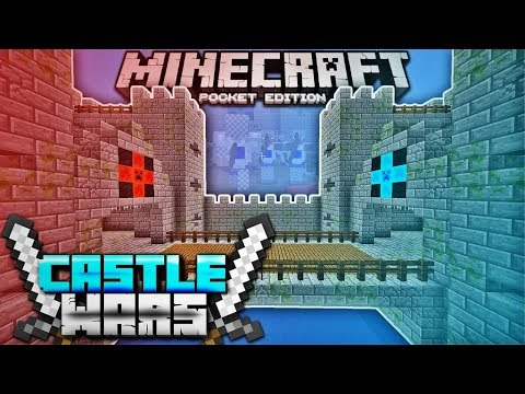 CASTLE WARS IN MCPE 1.1 With Subs! Minecraft PE Castle Clash (Minecraft Pocket Edition 1.1)