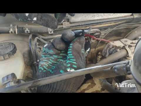 Установка котла подогрева двигателя Toyota Cresta 90 кузов