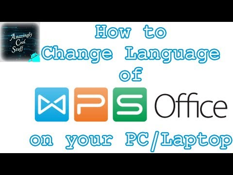 WPS Office #3 | Change Language in WPS Office on your PC/Laptop