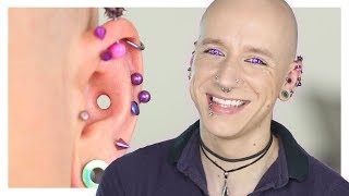 Dermal Conch Punch One Year On   Healing, Pain & Risks   Roly