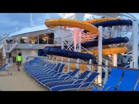 Departure from Naples Port by Harmony of the Seas