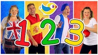 Counting to 10 Song in Four Languages Kids Learn to Count 1 to 10 Numbers Song Kids Songs