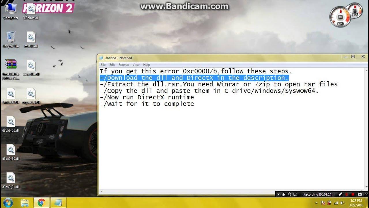How to fix error 0x000007b