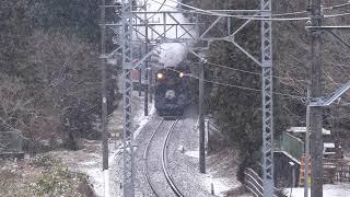[4K60P] C11-207 雪の鬼怒川路を行く、東武鉄道「SL大樹」