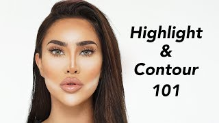 HOW TO HIGHLIGHT AND CONTOUR FOR BEGINNERS | BrittanyBearMakeup