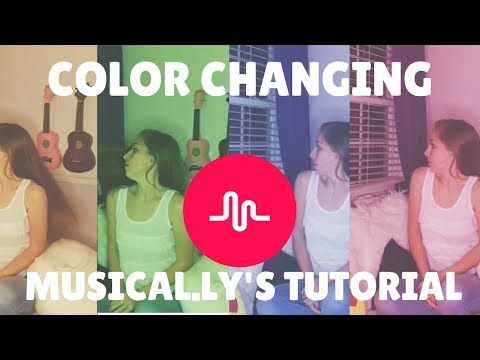 How to do Color Changing Musical.ly's!