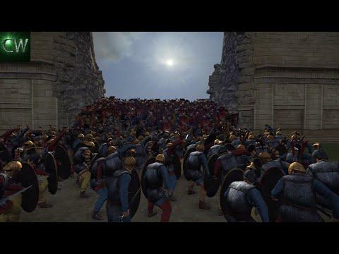 SIEGE OF ALEXANDRIA! 3v2 Rome II Battle (Siege)