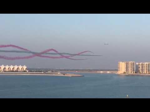 Etihad Airways and AlFursan Display team, Abu Dhabi, Yas Island, F1 Race Track