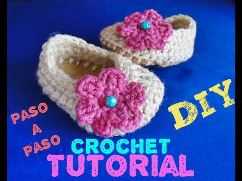 ZAPATITOS PARA BEBE MUY FACIL !!! PASO A PASO - YouTube