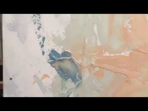 Abstract Acrylic Painting - Palette Knife - First Coat
