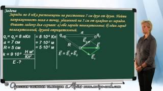 Решение задач на напряженность электрического  поля (урок 3)