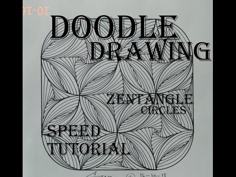 Draw Complex Zentangle Paradox Design for Beginners, Doodle Art Tutorial Drawing Step by Step How To