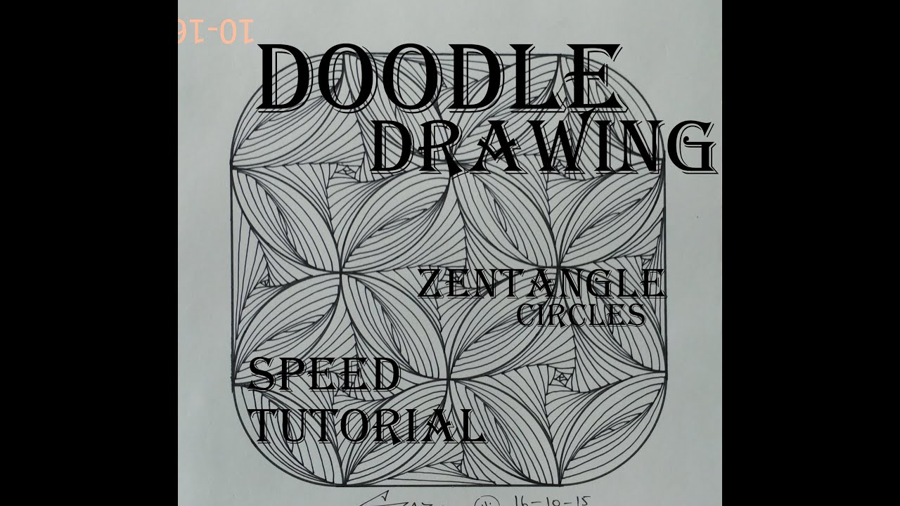 Draw complex zentangle paradox design for beginners for How to draw doodle art for beginners