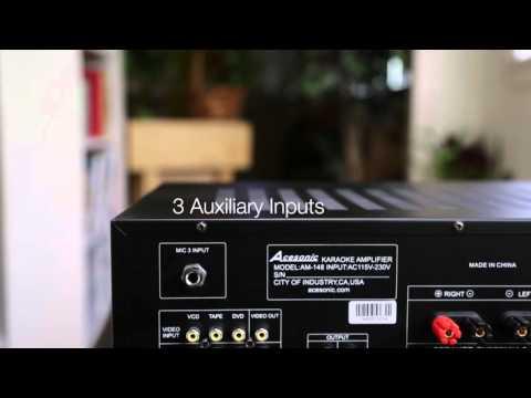 Acesonic AM-148 160 Watt Karaoke Mixing Amplifier