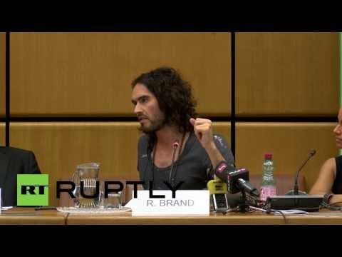 Austria: Crazy hair and politics, the revolutionary world of Russell Brand