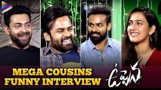Mega Cousins Funny Interview | Uppena Telugu Movie | Vaisshnav Tej | Sai Tej | Varun Tej | Niharika