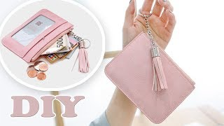 DIY COMPACT PURSE BAG // PU Lather Money & Credit Card Holder Trinket Pouch