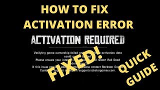 Red Dead Redemption 2 Activation Required FIXED | Verifying Game Ownership Failed