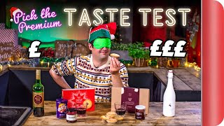 Blind Tasting PREMIUM CHRISTMAS Ingredients vs BUDGET Ingredients | Where Best to Spend Your Money?
