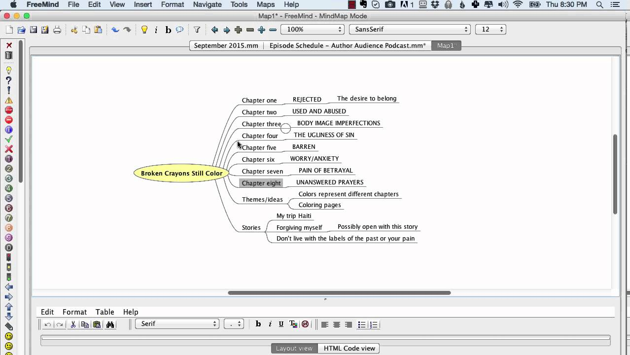 how to outline a book with mind mapping software freemind tutorial - Free Mind Map Program