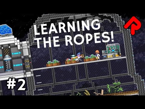 Learning the Ropes! | Let's Play Starbound Frackin' Universe