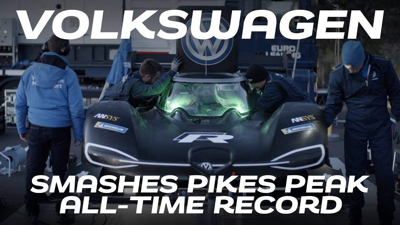 Volkswagen Smashes All Time Pikes Peak Hill Climb Record