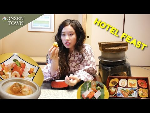 MASSIVE MUKBANG SUSHI RAMEN FEAST | SAPPORO JOZANKEI ONSEN TOWN JAPAN VLOG