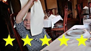5 Year Old at 5 Star Restaurant