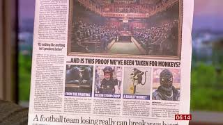 Banksy Chimpanzee Parliament - too good to be his? (UK/Global) - BBC News - 13th October 2019