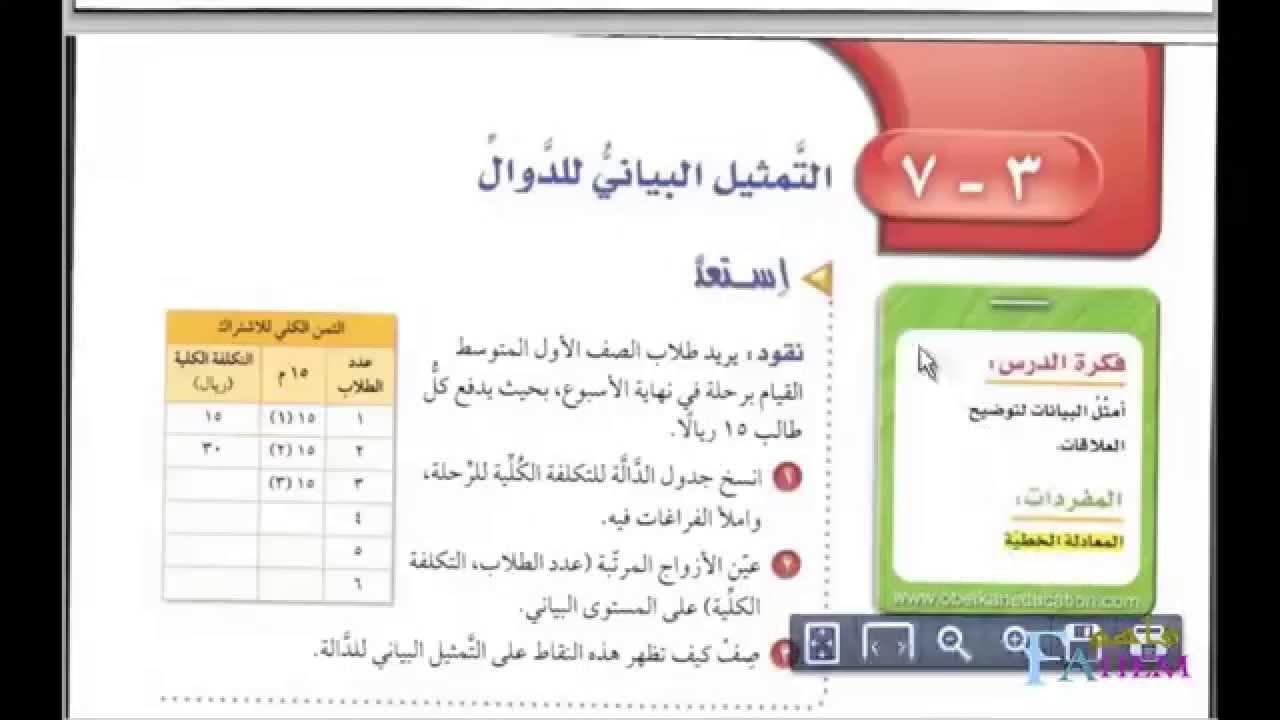 كتاب الرياضيات اول متوسط ف2