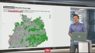 Aktuelle Zahlen zur Corona-Krise - Infektionsanstieg - Corona-Karte färbt sich grau   ntv