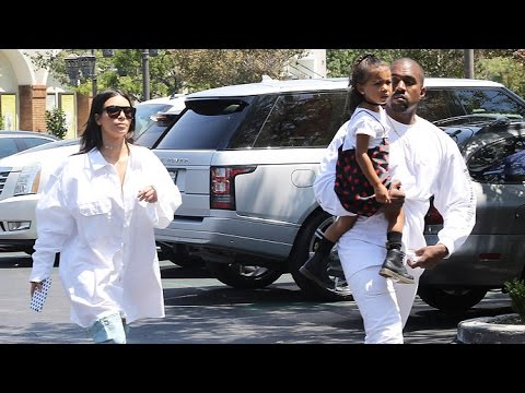Kim, Kanye, And Nori Wear White For Movie Matinee Post Kanye's