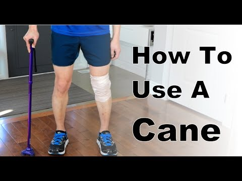 How to Use a Cane - On Floor and Stairs