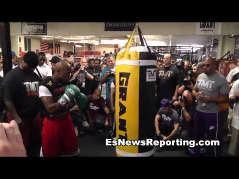 rap star scarface:Floyd mayweather beats sugar ray leonard and talks pacquiao EsNews Boxing
