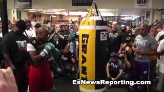 rap star scarface:Floyd mayweather beats sugar ray leonard and talks pacquiao EsNews Boxing