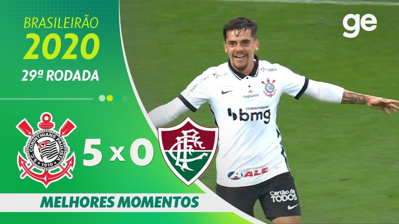 CORINTHIANS 5 X 0 FLUMINENSE | MELHORES MOMENTOS | 29ª RODADA BRASILEIRÃO  2020