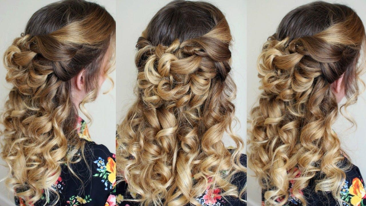 half up half down hairstyle with curls | braidsandstyles12