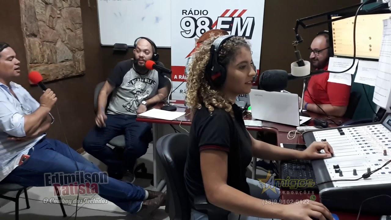 Edimilson Batista Entrevista na Radio 98 FM Montes Claro 03/08 Bloco 22  duelo com Gustavo Lima nos