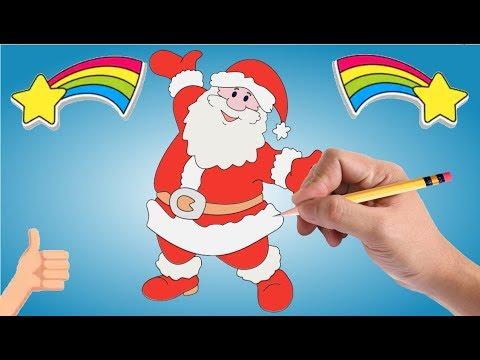 Comment Dessiner Un Papa Père Noël Facile Et Rapide à Faire Par étape Débutant