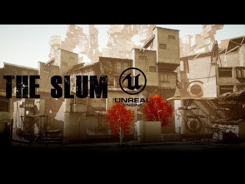 The Slum Unreal Engine 4 level designing 3d Sidescroller Environment