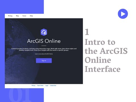 Introduction to the ArcGIS Online Interface
