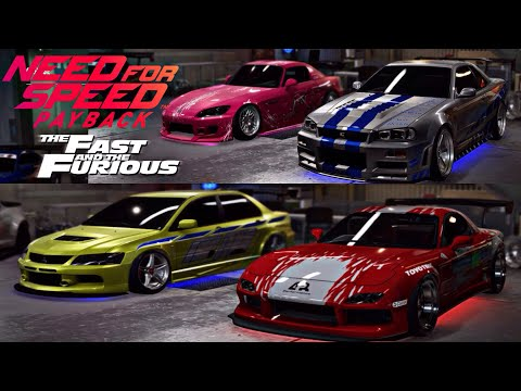 FAST AND FURIOUS CARS | NEED FOR SPEED PAYBACK
