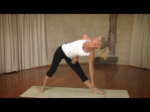 Triangle to Half Moon Pose, Yoga